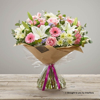 Happy Birthday Country Garden Hand tied