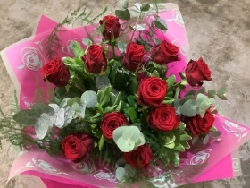 12 Red Rose Bouquet.